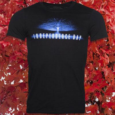Men's Black Independence Day Logo T-Shirt