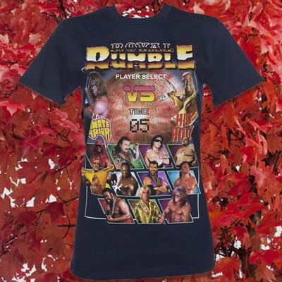 Women's Navy WWE Royal Rumble Rolled Sleeve Boyfriend T-Shirt
