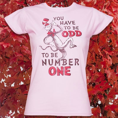 Women's Pink Dr Seuss The Odd One T-Shirt