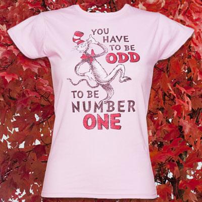 Women's Pink Dr Seuss The Odd One T-Shirt