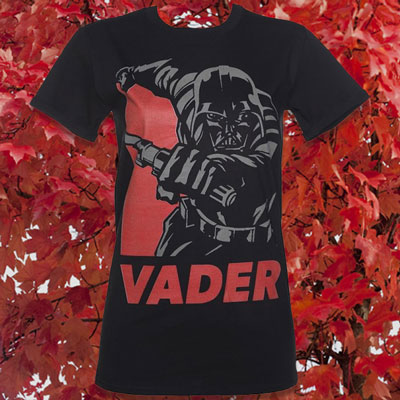 Women's Black Star Wars Vader Hope Rolled Sleeve Boyfriend T-Shirt