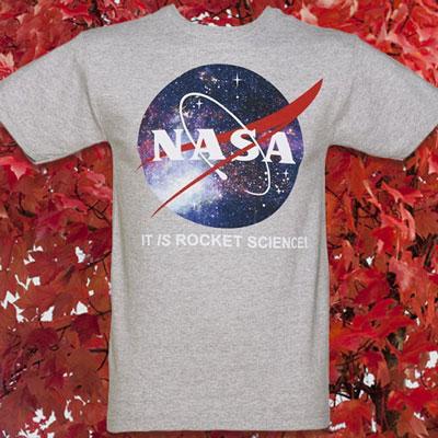 Men's Grey Marl It's Rocket Science NASA T-Shirt from Mighty Fine