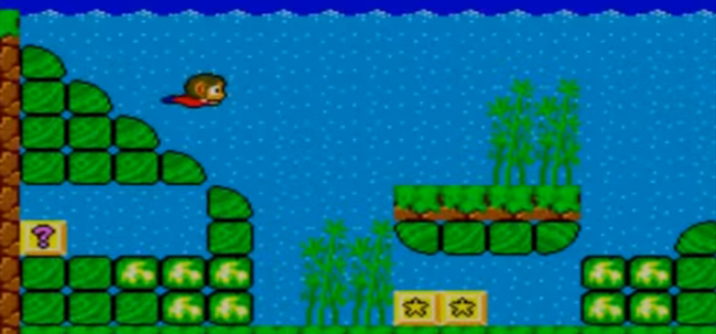 Alex Kidd Swimming Level