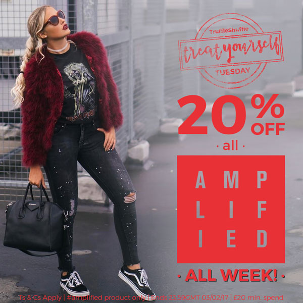TREAT YOURSELF TUESDAY: 20% off ALL Amplified Clothing